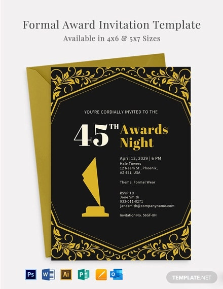 Formal Award Invitation Template