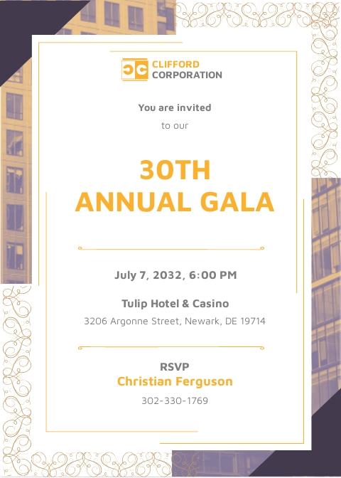 Formal Corporate Invitation Template