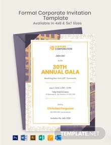 Formal Corporate Invitation Template