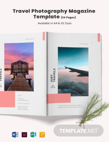 Travel Photography Magazine Template