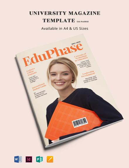 University Magazine Template