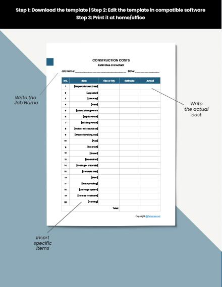 Sample Construction Form Download