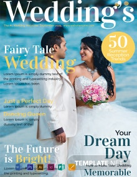 Wedding Magazine Cover Template