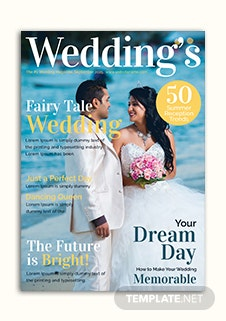 Wedding Magazine Cover Template