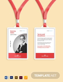 Free Printable Construction ID Card Template