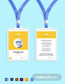 Free Editable Construction ID Card Template