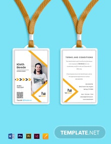 Free Basic Construction ID Card Template