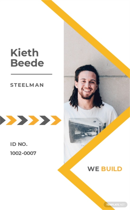 Basic Construction ID Card Template
