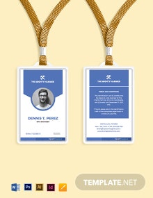 Free Simple Construction ID Card Template