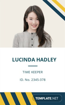 Sample Construction ID Card Template