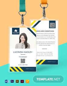 Free Sample Construction ID Card Template