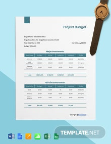 Free Editable Construction Project Budget Template