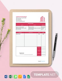 Free Sample Construction Purchase Template