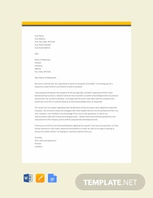 Free Job Transfer Request Letter for Personal Reason Format
