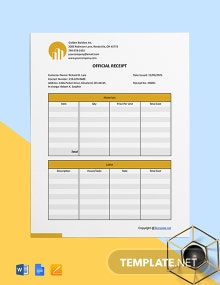 Free Printable Construction Receipt Template