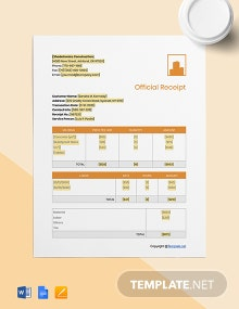 Free Basic Construction Receipt Template