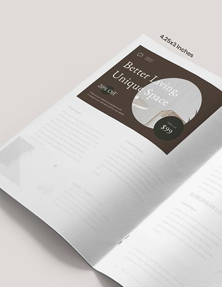 Layout Interior Design Magazine Ads Example
