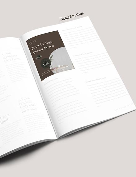 Layout Interior Design Magazine Ads Format
