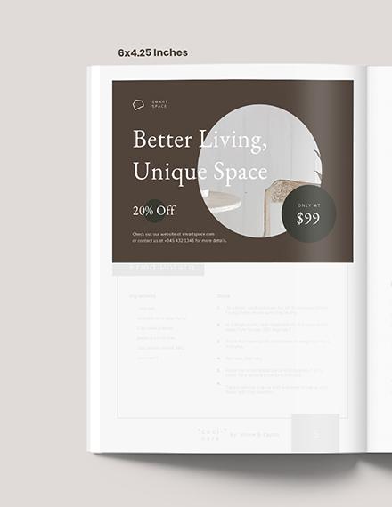 Layout Interior Design Magazine Ads Template