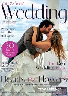 Modern Wedding Magazine Cover Template