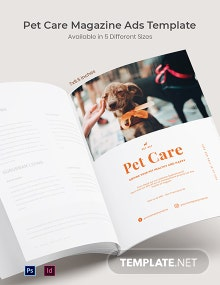 Free Pet Care Magazine Ads Template