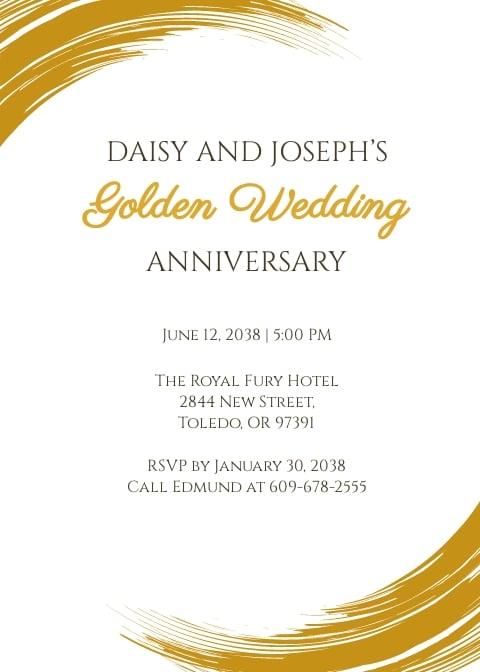 Golden Jubilee Celebration Invitation Card Template