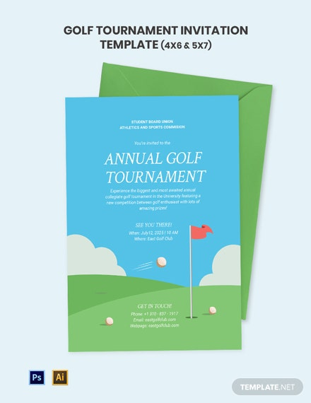 Annual Golf Tournament Invitation Template