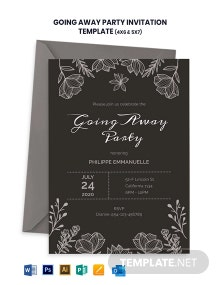 Chalkboad Going Away Party Invitation Template