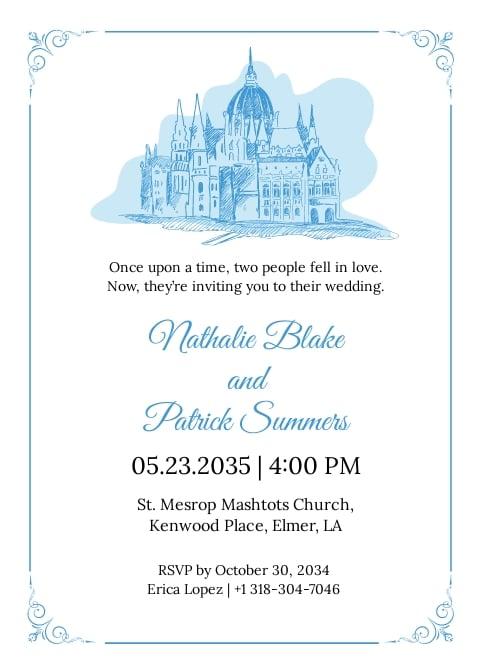 Simple Fairytale Wedding Invitation Template.jpe