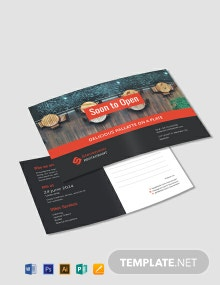 Free New Business Announcement Postcard Template
