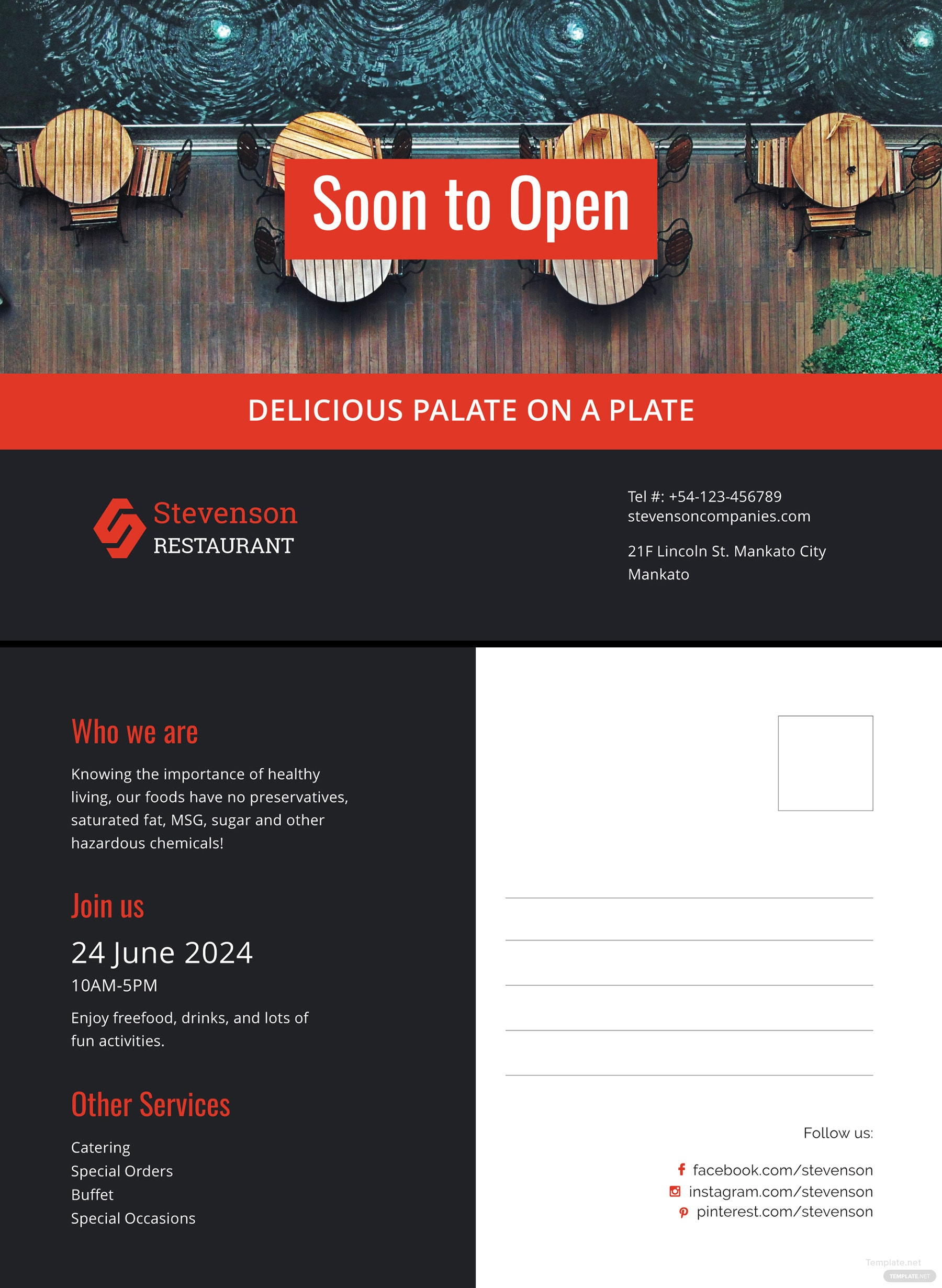 Free New Business Announcement Postcard Template in Microsoft Word ...