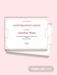 Free Printable Soccer Award Certificate Template