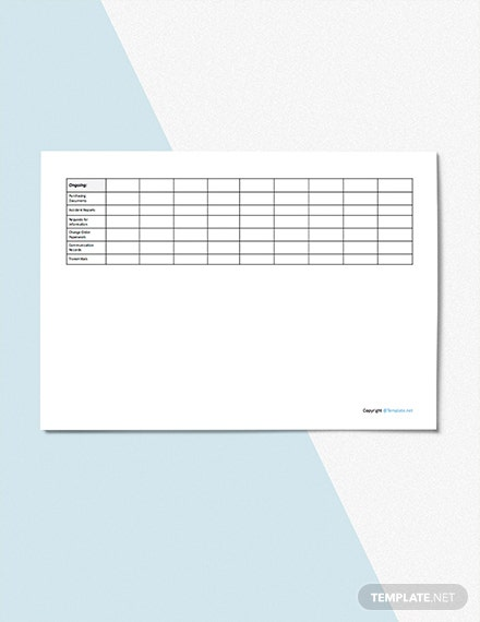 Blank Construction Tracking Template [Free Google Docs] - Google Sheets, Excel, Word, Apple Numbers, Apple Pages