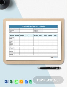 Free Blank Construction Tracking Template