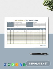 Free Printable Construction Tracking Template