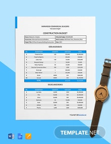 Free Printable Construction Budget Template