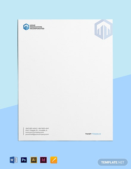 Free Printable Construction Letterhead Template