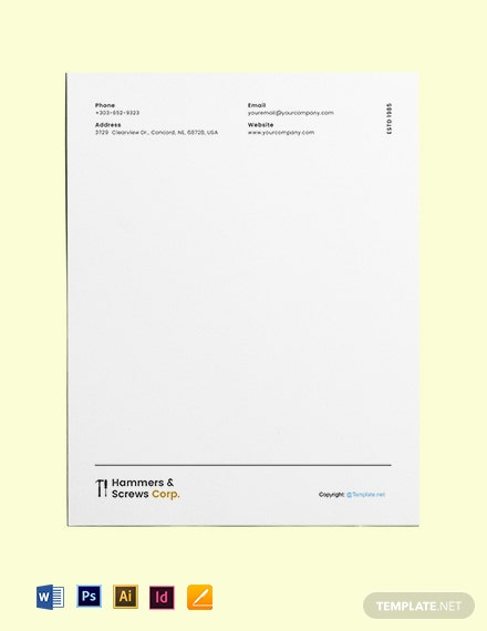 Free Editable Construction Letterhead Template