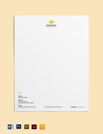 Basic Construction Letterhead
