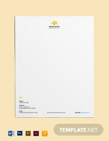 Free Basic Construction Letterhead Template