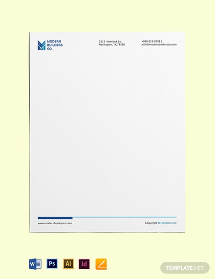 Free Simple Construction Letterhead Template