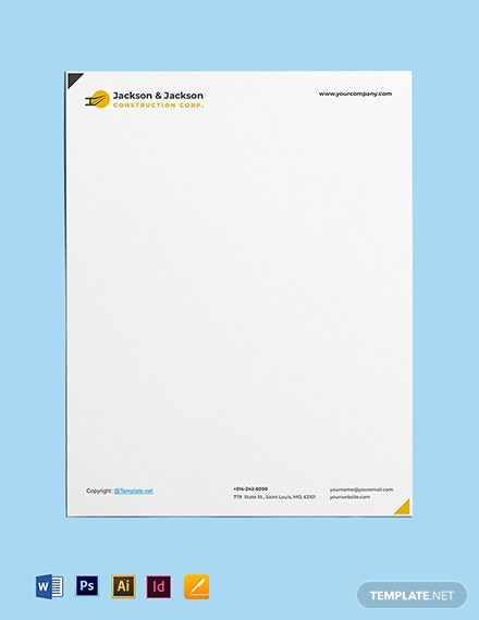 Free Sample Construction Letterhead Template