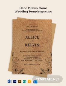 Hand Drawn Floral Wedding Template