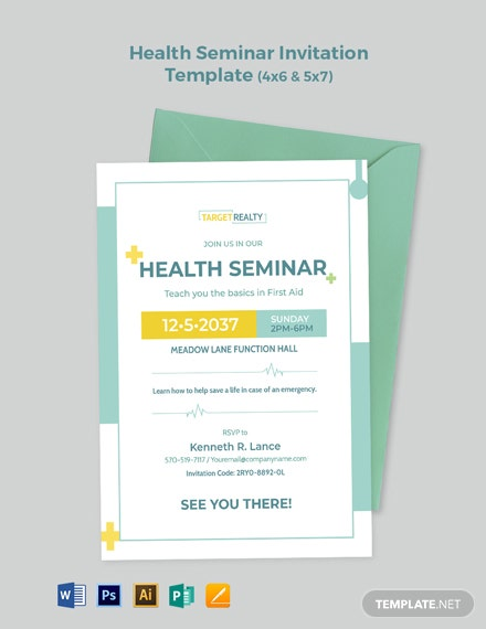 Health Seminar Invitation Template