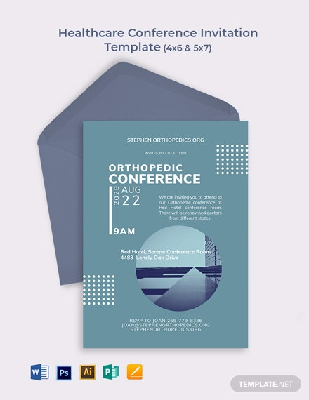 Healthcare Conference Invitation Template