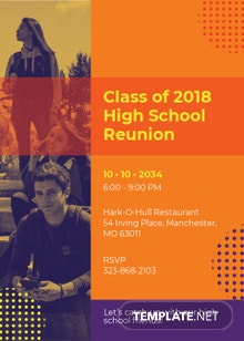 High School Reunion Invitation Template