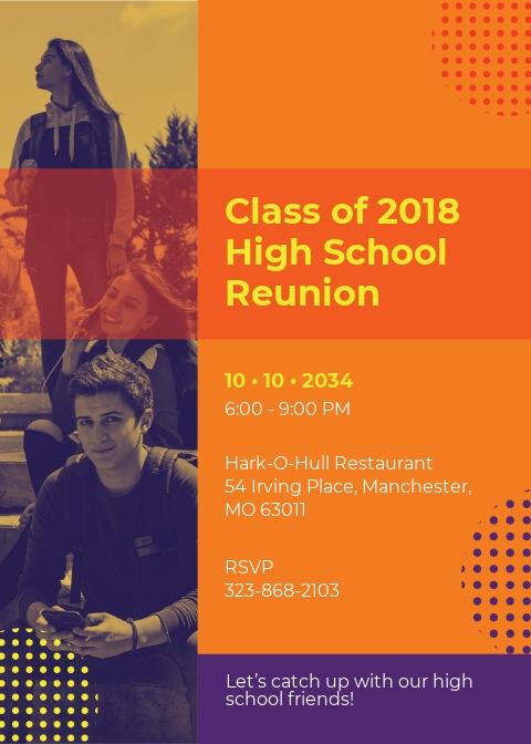 High School Reunion Invitation Template