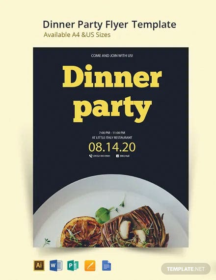Dinner Flyer Party Template