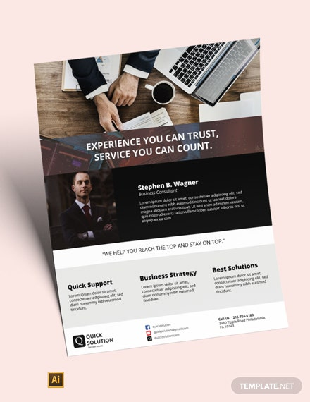 Small Business Consultant Flyer Template