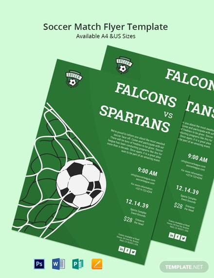 Soccer Match Flyer Template